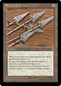 Serrated Arrows from Homelands