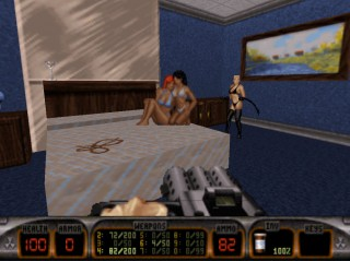 The XXX-Stacy level in The Birth Episode is the set of a Porno film - Duke Nukem 3D