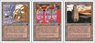 Urza's Mine, Urza's Power Plant and Urza's Tower from Chronicles