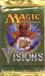 A Visions Booster Pack for Magic the Gathering