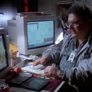 Dennis Nedry at his desk