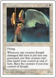 Fifth Edition's Seraph was originally printed in Ice Age and replaced Serra Angel