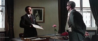 Harry Palmer talking to Colonel Ross in The IPCRESS File
