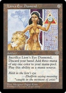 Lion's Eye Diamond a tamer Black Lotus from Mirage