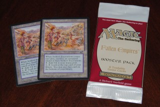 Magic the Gathering Fallen Empires Booster and Soldevi Excavation Singles