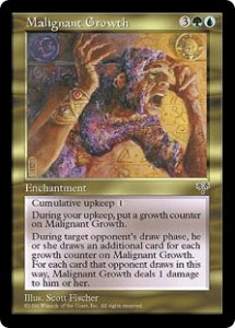 Malignant Growth a Gold Enchantment from Mirage