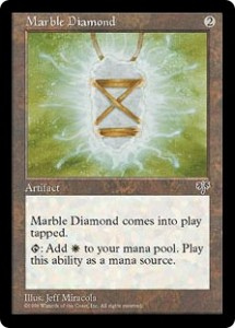 Marble Diamond the White Mana Artifact from Mirage