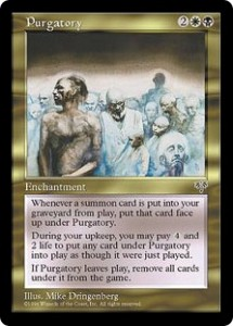Purgatory a Gold Enchantment from Mirage