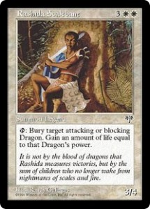 Rashida Scalebane the anti-Dragon Legend from Mirage