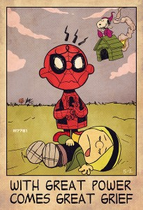 Spider-man and Charlie Brown by m7781
