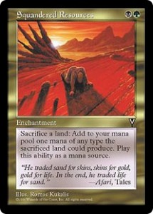Squandered Resources from Visions