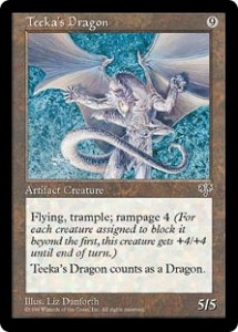 Teeka's Dragon an Artifact Dragon from Mirage