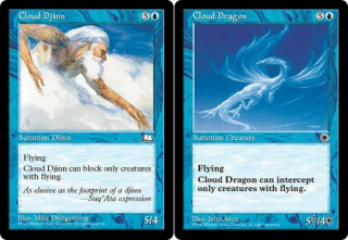 Weatherlight's Cloud Djinn was a functional reprint of Cloud Dragon from Portal