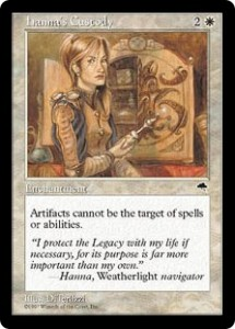 All Artifacts were protected by Tempest's hanna's Custody