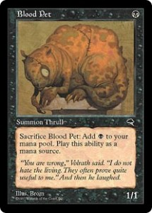 Blood Pet was the first Thrull printed since Fallen Empires