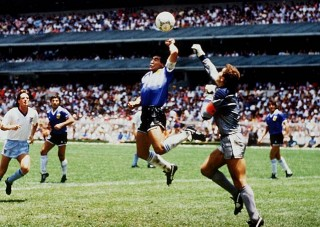 Diego Maradona and the Hand of God