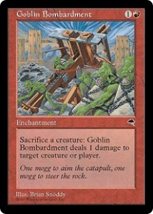 Goblin Bombardment was THE premier card of Tempest