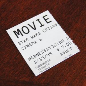 Star Wars Episode I The Phantom Menace Midnight Showing Ticket Stub