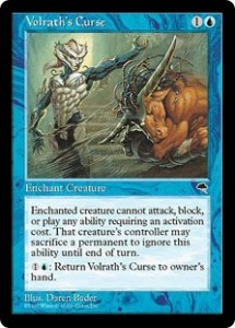 Volrath's Curse the Blue Pacifism from Tempest