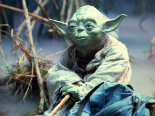 Yoda the Puppet in the Dagobah Swamp