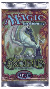 A Magic the Gathering Exodus Booster Pack