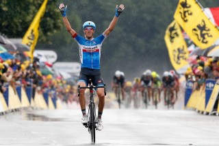 On Stage 19 Ramunas Navardauskas stole the show from the Sprinters