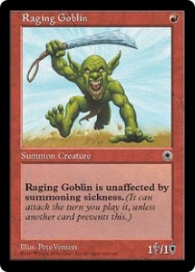 Raging Goblin from Portal the Beginner's or Basic Set
