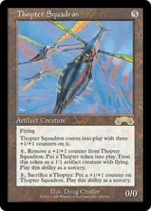 Thopter Squadron from Exodus was an upgraded Clockwork Avian
