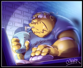 Comic Book Guy from The Simpsons by WagnerF on deviantArt