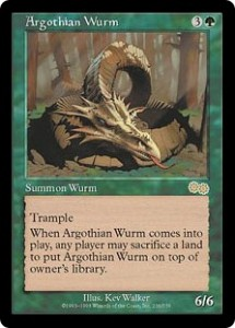 Argothian Wurm from Uzra's Saga was very Useful for Clearing Land and Dealing Damage