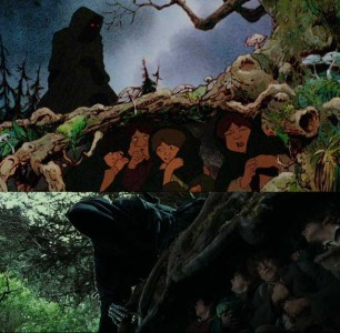 Bakshi and Jackson are painting the same picture using different techniques