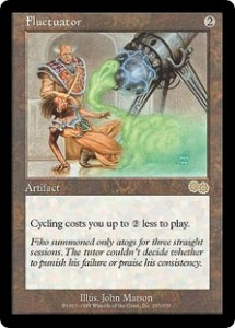 Fluctuator from Urza's Saga made Cycling Cheaper to do