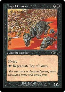 Fog of Gnats was either an expensive Will-'o-the-Wisp or a flying Drudge Skeletons