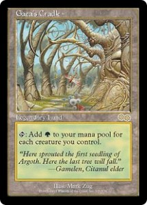 Gaea's Cradle the Green Legendary Land from Urza's Saga