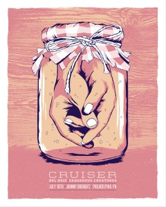 Gig poster for the super awesome band Cruiser