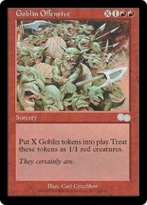 Goblin Offensive from Urza's Saga