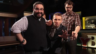 Matt Mira, Chris Hardwick, and Jonah Ray of The Nerdist Podcast