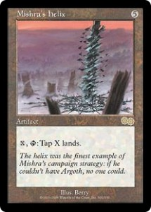 Mishra's helix from Urza's Saga could temporarily Mana screw target opponent