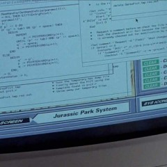 Nedrys Workstation in Jurassic Park