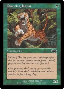 Pouncing Jaguar was one of Green's first Echo creatures from Urza's Saga
