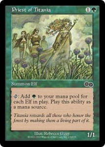 Priest of Titania was a Game-Changer from Urza's Saga