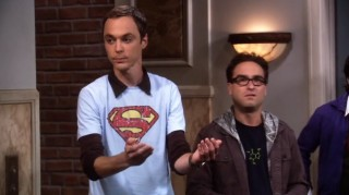 Sheldon explains the Physics of Superman catching Lois Lane