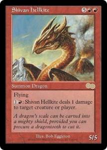 Shivan hellkite from Urza's Saga