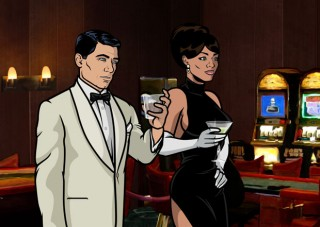 Sterling Archer drinks in style
