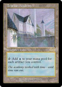 Tolarian Academy the Blue Legendary Land from Urza's Saga