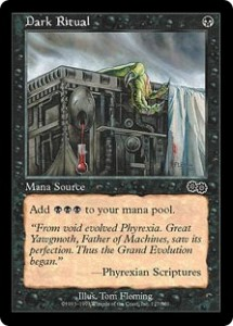 Dark Ritual was not printed in Classic Sixth Edition because it was included in Urza's Saga