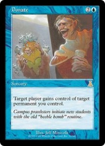 Donate from Urza's Destiny Spawned Countless Trade Decks
