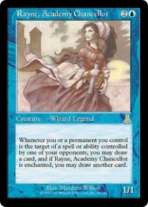 Rayne, Academy Chancellor the Wizard Legend increased your Draw
