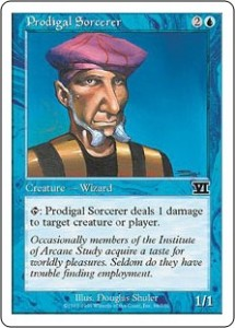 "The ""classic Tim"" Prodigal Sorcerer was printed in Classic Sixth Edition"