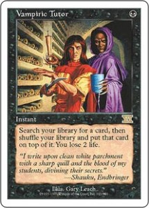Vampiric Tutor was a welcome addition to Classic Sixth Edition